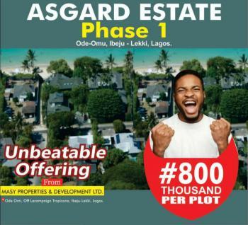 Land, Ode-omi, 30mins Drive to Dangote Refinery Asgard Estate Phase 2, Ibeju Lekki, Lagos, Residential Land for Sale