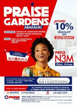 Praise Garden Estate Abakaliki, Abakaliki, Ebonyi, Mixed-use Land for Sale