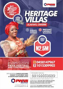 Land, Heritage Villas Estate, Ulakwo, Owerri North, Imo, Mixed-use Land for Sale