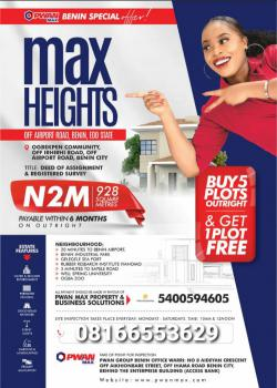 100by100, Max Heights Estate, Benin, Oredo, Edo, Mixed-use Land for Sale
