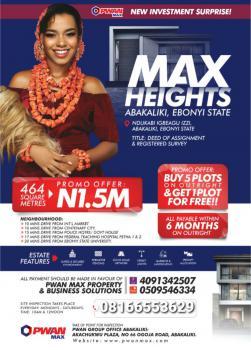 Max Heights Estate Abakaliki, Abakaliki, Ebonyi, Mixed-use Land for Sale