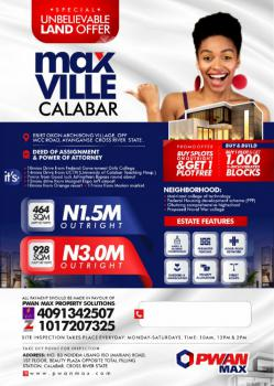 Land, Max Ville Estate, Calabar, Cross River, Mixed-use Land for Sale