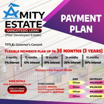 Well Developed Estate Land, Instant Allocation, Amity Estate, Sangotedo, Ajah, Lagos, Residential Land for Sale