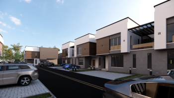 4 Bedrooms Terraced Duplex (off Plan Project), By Fha Bridge, Airport Road, Lugbe District, Abuja, Terraced Duplex for Sale