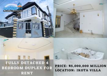 Fully Detached 4 Bedroom Duplex, Ikota Villa, Ikota, Lekki, Lagos, Detached Duplex for Rent