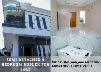 Semi Detached 4 Bedroom Duplex, Ikota Villa, Ikota, Lekki, Lagos, Semi-detached Duplex for Sale