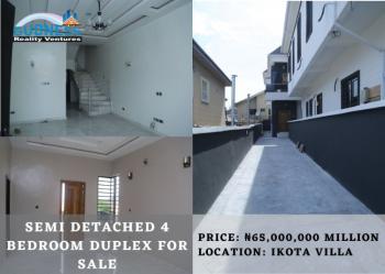 Semi Detached 4 Bedroom Duplex, Ikota Villa, Ikota, Lekki, Lagos, Semi-detached Bungalow for Sale