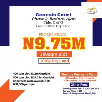100% Dry Land, Genesis Court Phase 2., Ajah, Lagos, Residential Land for Sale