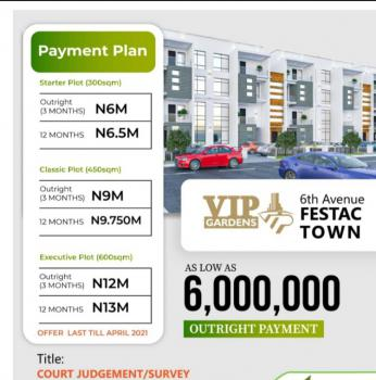 Desirable Dry Land in a Serene Location with Good Title, Vip Gardens, 6th Avenue, Festac, Amuwo Odofin, Lagos, Land for Sale