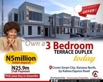 3 Bedroom Luxury Properties, By Nipco Filling Station Along Kubwa Express, Karsana North, Karsana, Abuja, Terraced Duplex for Sale