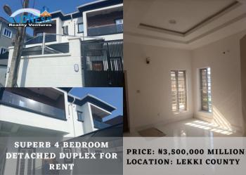 Superb 4 Bedroom Detached Duplex, Lekki County, Ikota, Lekki, Lagos, Detached Duplex for Rent