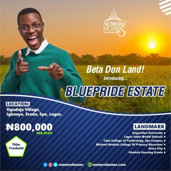 Land, with Close Proximity to Augustine University, Epe, Lagos, Residential Land for Sale