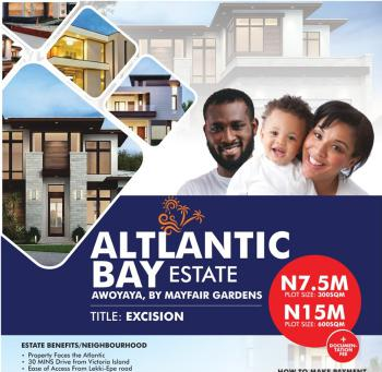100% Dry Land, Opposite Mayfair Garden Opposite Mayfair Garden, Awoyaya, Ibeju Lekki, Lagos, Residential Land for Sale