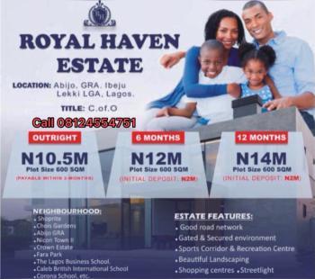 Gated and Fenced Residential Estate Land, Abijo Gra Beside Chevron Cooperative Estate, Abijo, Lekki, Lagos, Residential Land for Sale