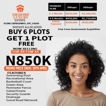 Luxury Estate in a Habitable Environment, Medorf Luxury Estate, Epe, Lagos, Residential Land for Sale