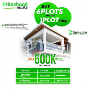 Land, Otunla Community, Off Akaran Road, Ona Ara, Olorunsogo, Prime Hood Estate, Ibadan North-east, Oyo, Residential Land for Sale