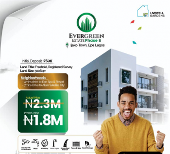 *evergreen Estate Phase 2, Epe, Ijako Town, Epe, Lagos, Residential Land for Sale