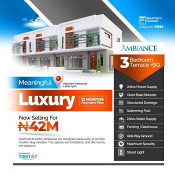 3 Bedroom Terrace Duplex with Bq, Inside Atlantic Layout Estate By Abraham Adesanya, Ajiwe, Ajah, Lagos, Terraced Duplex for Sale