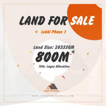 Strategic Commercial Land, Lekki Phase 1, Lekki, Lagos, Commercial Land for Sale
