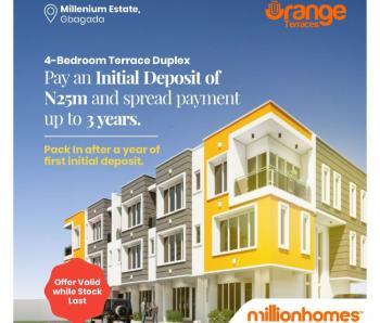 4 Bedroom Duplex (serviced Apartment), Gbagada, Lagos, Terraced Duplex for Sale
