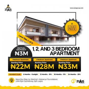 Luxury 1 Bedroom Apartment with C of O, Lekki Prid Estate Abraham Adesanya Roundabout By Ajiwe Police Station, Ajiwe, Ajah, Lagos, Terraced Bungalow for Sale