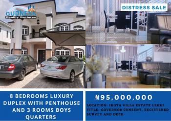 8 Bedrooms Luxury Duplex with Penthouse and 3 Rooms Boys Quarters, Ikota Villa, Ikota, Lekki, Lagos, Detached Duplex for Sale