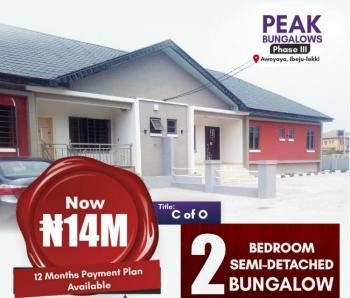 Lovely 2 Bedroom Semi Detached Bungalow, Awoyaya, Ibeju Lekki, Lagos, Semi-detached Bungalow for Sale