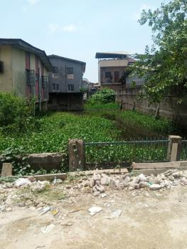 Half Empty Plot of Land, Chief Natufe Street Off Babs Animashaun By Bode Thomas Junction, Bode Thomas, Surulere, Lagos, Residential Land for Sale