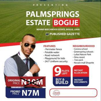 Affordable Estate Land, Palm Springs Estate, Bogije, Ibeju Lekki, Lagos, Mixed-use Land for Sale