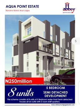 5 Bedroom Semidetached Duplex with Bq/private Pool/elivator Water Front, Onikoyi Estate, Banana Island, Ikoyi, Lagos, Semi-detached Duplex for Sale