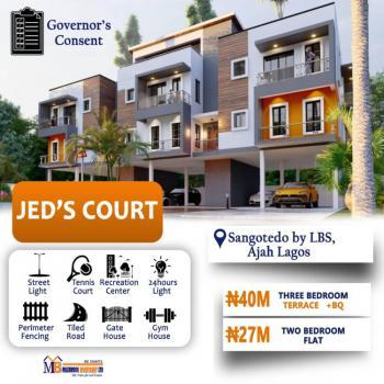 3 Bedroom Terrace Duplex with Bq, Lekki Expressway, Lbs, Jeds Court, Sangotedo, Ajah, Lagos, Terraced Duplex for Sale