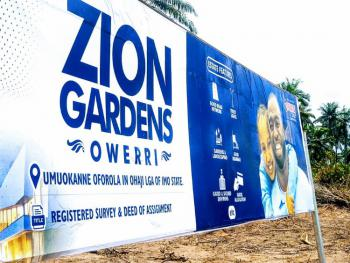 Affordable Plots of Land, Zion Gardens Estate, Umuokanne, Oforola, Owerri West, Imo, Mixed-use Land for Sale