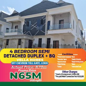 Four(4) Bedroom Semi Detached Duplex + Bq, Lekki Phase 2, Lekki, Lagos, Semi-detached Bungalow for Sale