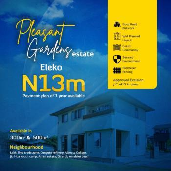 Prime Plot of Land in Good Location, Facing Eleko Road, Close to Amen Estate - Pleasant Gardens, Eleko, Ibeju Lekki, Lagos, Residential Land for Sale