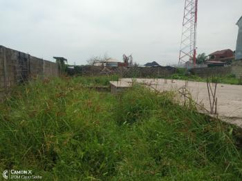 Prime 1000sqm Land,fenced & Gated Plus German Floor Foundation.deed, By Admiralty Estate Junction,alpha Beach Road, Igbo Efon, Lekki, Lagos, Mixed-use Land for Sale