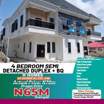 Newly Built 4 Bedroom Semi Detached Duplex with Bq, Off Chevron Toll Gate, Lekki, Lagos, Semi-detached Bungalow for Sale