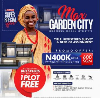 Cheap Land Close to University of Ibadan Buy 5 Outrightly Get 1 Free, Odo Ogun, Ibadan, Oyo, Mixed-use Land for Sale