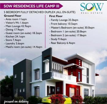 4 Bedroom Fully Detached Duplex Plus Bq, Close to Ochacho Estate, Life Camp, Abuja, Detached Duplex for Sale