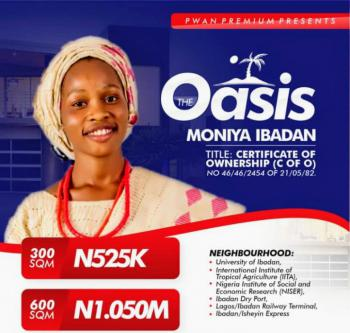 100% Dry Land for Buy and Build with C of O, Oasis Estate, Moniya, Ibadan, Oyo, Residential Land for Sale