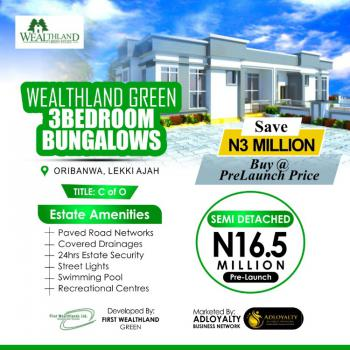 3 Bedroom Semi Detached Duplex, Wealthland Green Estate, Close to Mayfair Gardens, Awoyaya, Awoyaya, Ibeju Lekki, Lagos, Semi-detached Bungalow for Sale
