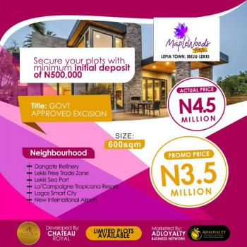 Estate Plot of Land in Good Location, Maplewood Forte Estate, Lepia Town Close to Lacampagne Tropicana, Ibeju Lekki, Lagos, Residential Land for Sale