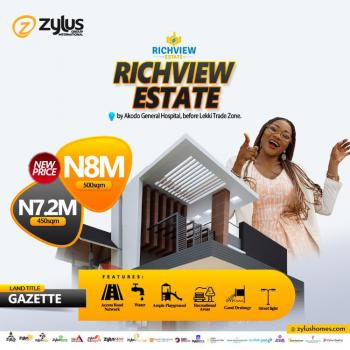 Plots of Estate Land in Very Good Location, Richview Estate, Close to Akodo General Hospital, Eleko, Ibeju Lekki, Lagos, Residential Land for Sale