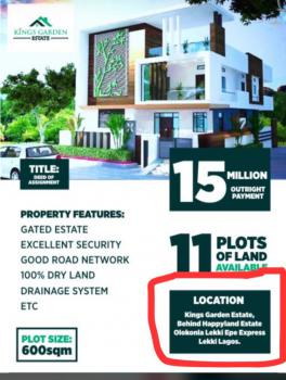 600sqms Plot of Land, Sand Filled and Fenced, Back of Happy Land Estate, Ajah, Lagos, Residential Land for Sale