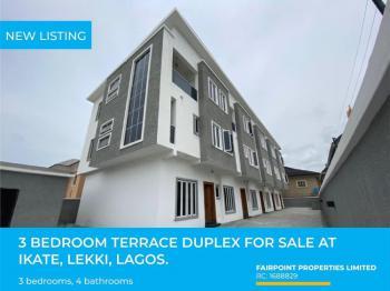 Spacious 3 Bedroom Terrace Duplex with a Bq, Ikate, Lekki, Lagos, Terraced Duplex for Sale