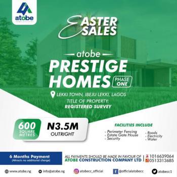 Prestige Homes, Lekki Town, Ibeju Lekki, Lagos, Mixed-use Land for Sale
