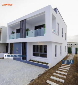 Luxury 3 Bedrooms Terraced Duplex with 1 Bedroom Standard Bq with Kitchen, By Ogombo, Abraham Adesanya. Fully Tarred Road From Express., Lekki Phase 2, Lekki, Lagos, Terraced Duplex for Sale