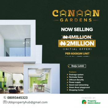 Mixed Use Land, Canaan Gardens Estate, Ibeju Lekki, Lagos, Mixed-use Land for Sale