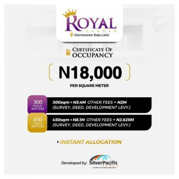 Royal Garden Estate Pre-launch Promo, Olomowewe,royal Garden Estate, Ibeju Lekki, Lagos, Mixed-use Land for Sale