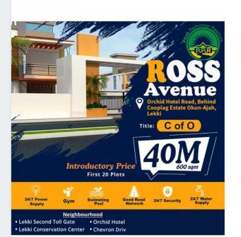 Prime Plot of Estate Land in Premium Location, Ross Avenue, Win Homes Estate, Orchid Road, Chevron Toll Gate, Ikota, Lekki, Lagos, Residential Land for Sale