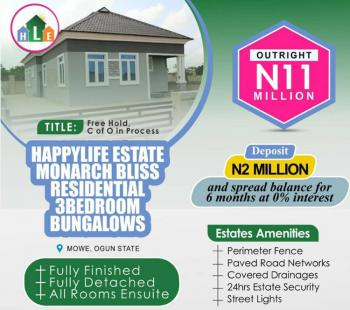 Lovely and Affordable 3 Bedroom Bungalow, Opposite Christopher University, Mowe Town, Ogun, Detached Bungalow for Sale